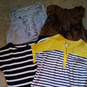 Womens short sleeve dress/casual blouses size S, M